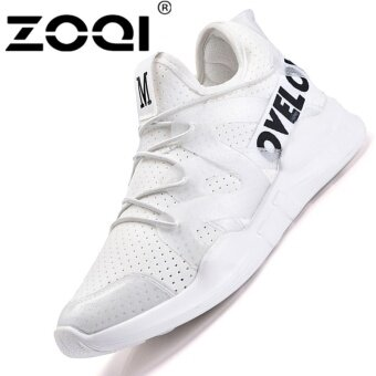 Harga ZOQI Women's Fashion Jelly Sneaker Sport Shoes (White) - intl