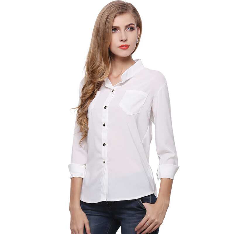 ZUNCLE Chiffon Shirt Casual Jacket(White) - intl