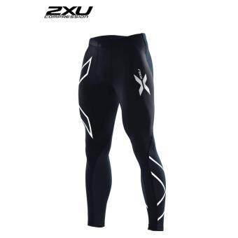 ZXU Men Compression Tights Black/Silver