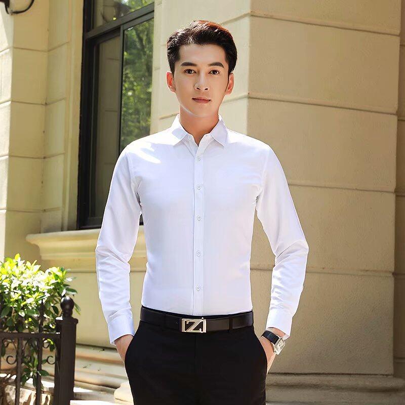 เสื้อเชิ้ตชาย เสื้อเชิ้ตผู้ชายแขนยาว เสื้อใส่ทำงาน เสื้อลำลองเสื้อแฟชั่น B002