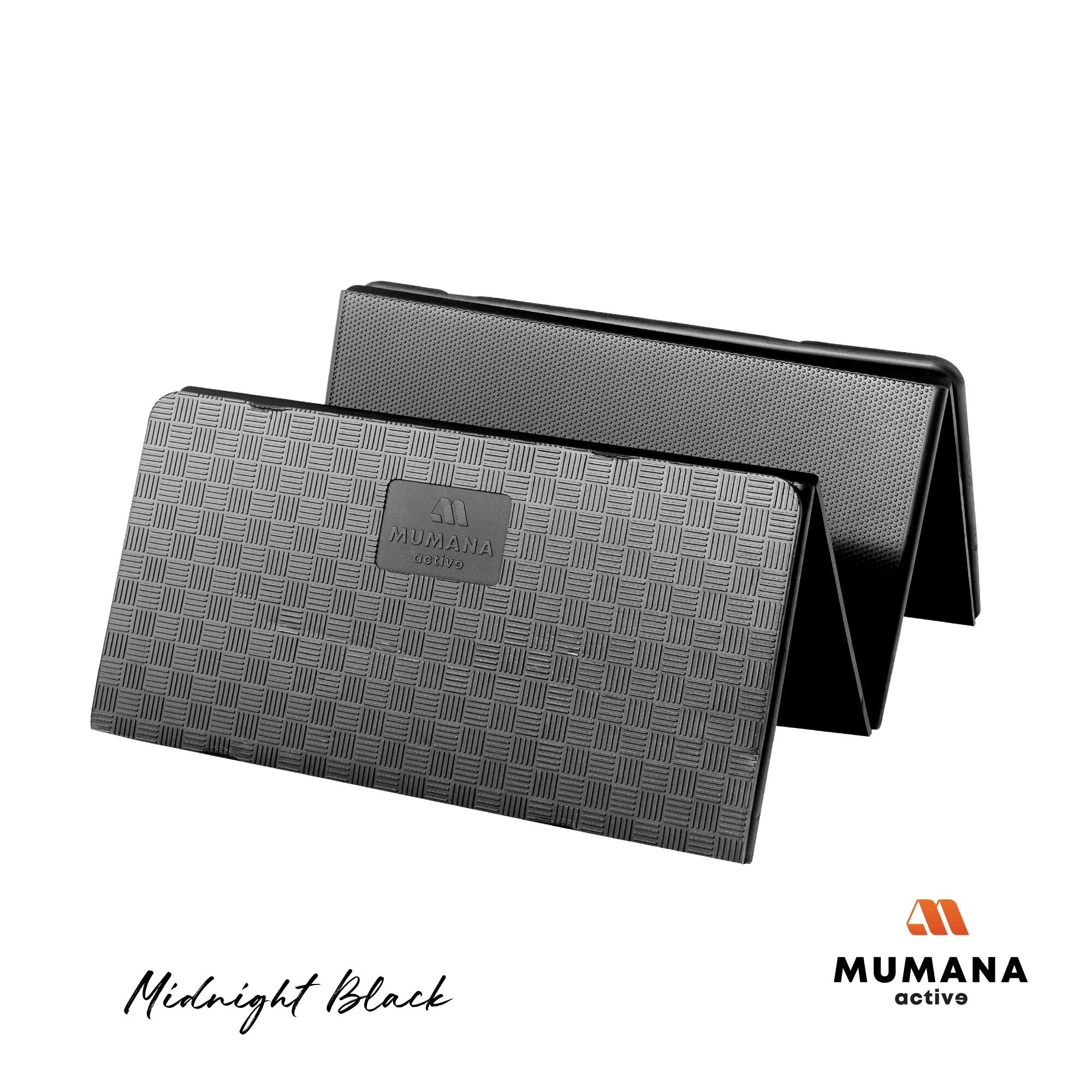 Mumana Active เสื่อออกกำลังกายแบบพับได้ หนา15มม. ไม่เจ็บศอก-เข่า ยึดเกาะทุกพื้นผิว เหมาะทุกการออกกำลังกายและโยคะ ฟรี!สายคาดเสื่อปรับขนาดได้