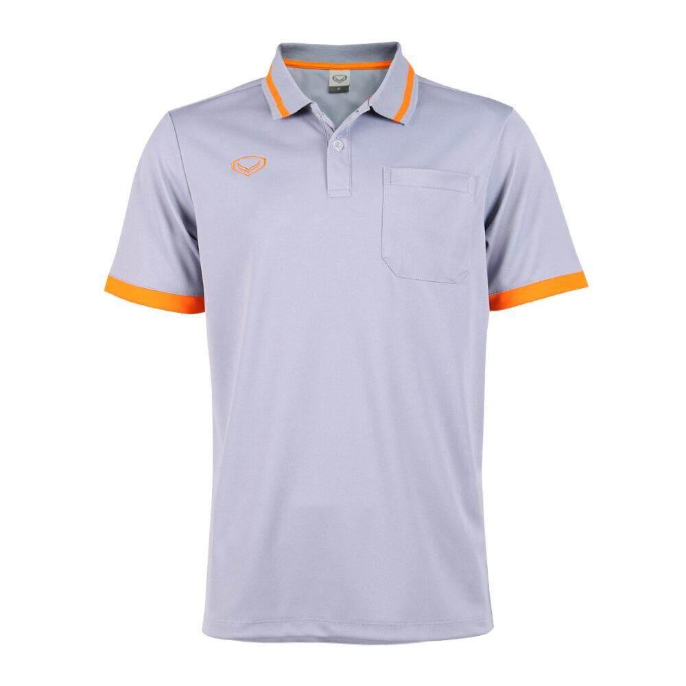 Grand Sport ผู้ชาย เสื้อโปโล เสื้อคอปก ทรงผู้ชาย มีกระเป๋าหน้าอก แกรนด์สปอร์ต ของแท้ 7 วัน 7 สี ราคาถูกกว่าป้าย
