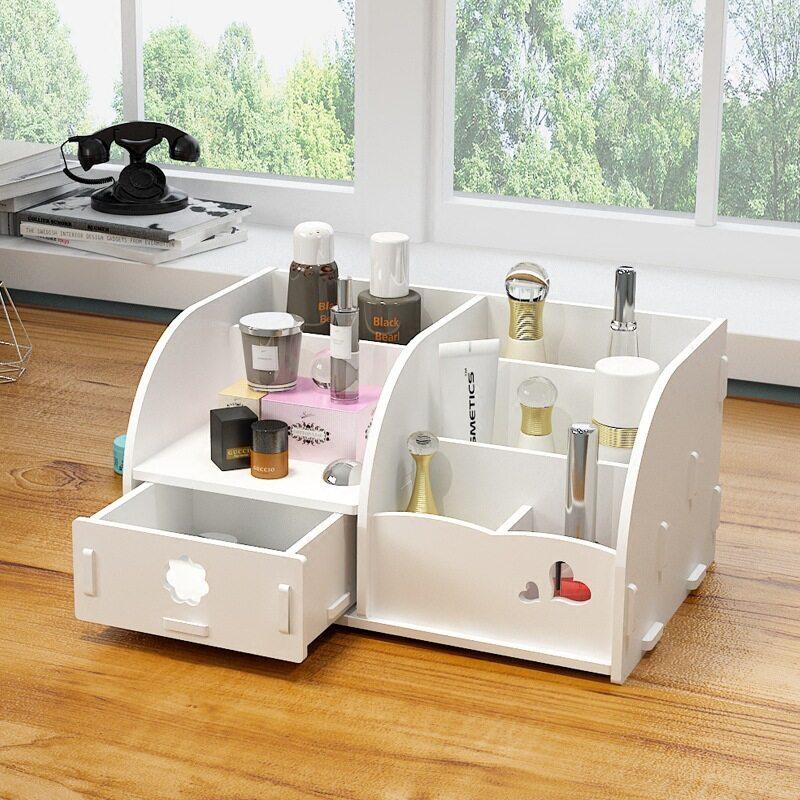 DIYกล่องใส่ของ ชั้นวางของ สารพัดประโยชน์ กล่องลิ้นชักเก็บเครื่องสําอางค์ กล่องเครื่องสำอาง ชั้นวางของและลิ้นชัก กล่องเก็บของบนโต๊ะ
