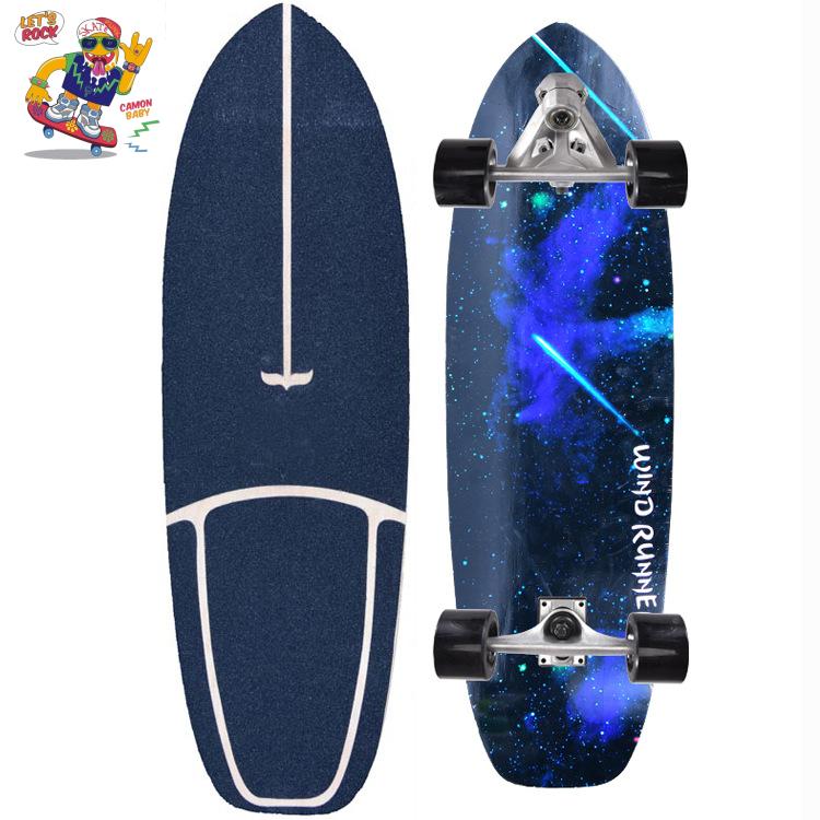 [75*23*12cm] เซิร์ฟสเก็ต ราคา ถูก surf skate CX7 เซิฟสเก็ตบอร์ด เสก็ตบอร์ด สเก็ตบอด สเก็ตบอร์ดกระดานโต้คลื่นบก กระดานฝึกเล่นสกีจำลอง