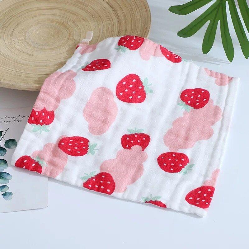 ผ้าเช็ดหน้าเด็ก 25x25 เซนติเมตร อเนกประสงค์ คละลาย ผ้าสาลู ผ้าเช็ดมFJ01