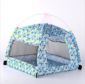 1 Pcs Summer Cut Dog Tents Cat Nest Kennel Indoor Net YarnBreathable Pet House - intl