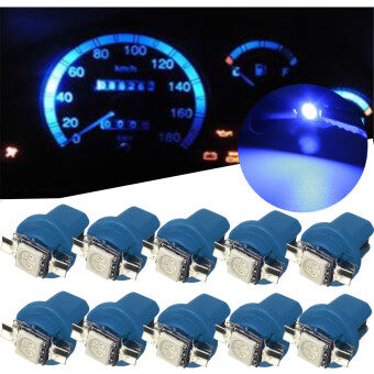 1 PCS T5 B8.5D Car Gauge 5050 1SMD LED Speedo Dashboard Dash SideLight Bulb 12V Blue - Intl