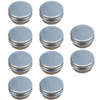 10 PCS 15G Mini Empty Aluminum DIY Homemade Travel Nail Art Lip Balm Cosmetic Samples Body Cream Lotion Container