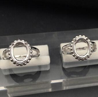 10mm เงินทองคำขาวชุบแหวน mountings