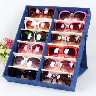 กล่องเก็บแว่นตากันแดด12ช่อง
