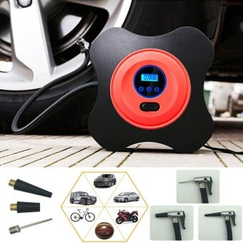 12V 40psi car pump air compressor auto metal mini tire compressorelectric portable tyre inflatable pump for Moto Bike - intl