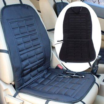 Harga 12V Car Auto Front Seat Hot Heated Thermal Pad Cushion Warmer CoverBlack WIth Cigarette Lighter Socket Adaptor Universal Fit - intl