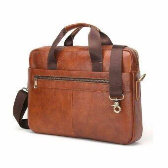 กระเป๋าสะพายข้าง กระเป๋าถือ กระเป๋าเอกสาร กระเป๋าโน๊ตบุ๊คขนาด 15 นิ้ว เป็นกระเป๋าหนังแท้ รุ่น SPN022