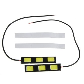 1pair 12V 9.2cm 3 COB LED Car Daytime Running Lights 900LM Auto CarLED DRL - intl รูบที่ 3
