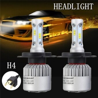 1Pair H4 432W 43200LM LED HEADLIGHT Lamp Kits Hi/Lo Dual BEAM HID6000K BULBS - intl
