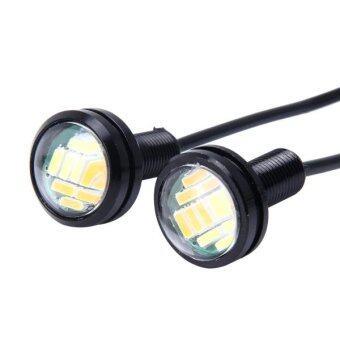 2 PCS 2W White + Yellow Light Car Auto Eagle Eyes Fog Light TurnLight With 12 ...