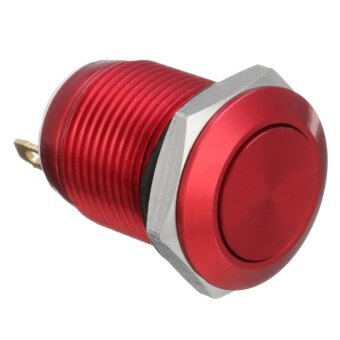 2 Pins 12mm 5A Stainless Steel Push Button Momentary Switch ON OFF Car Boat (Red) - intl - 4