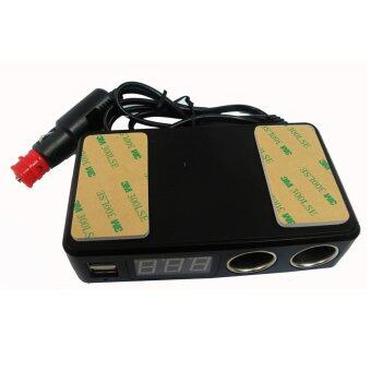 ช่องเสียบที่จุดบุหรี่ 2 Socket 2 USB3.1Aพร้อมโวลต์มิเตอร์วัดคุณภาพไฟและแบตเตอรี่ (image 3)