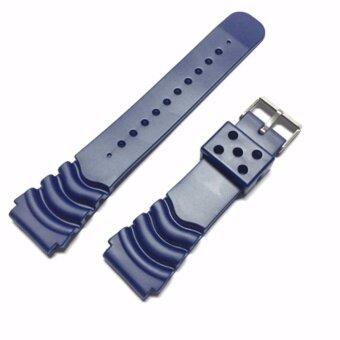 ประเทศไทย 20 มม. สายยาง นาฬิกาดำน้ำ ยอดนิยม - สีน้ำเงิน NT Watch Shop 20 mm. Rubber band for diver watch - BLUE