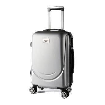 กระเป๋าเดินทางล้อลากขนาด 20 นิ้ว รุ่น QO20-11 สีเทา ลายยิ้ม
