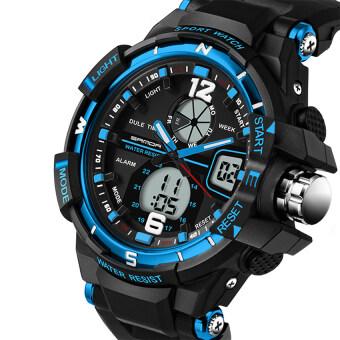 2016 Best Quality SANDA 289 Fashion Outdoor Multifunctional Sports Men'S Electronic Watch(blue)