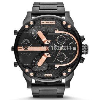 2016 New Men's Diesel Fashion Metal Strap Watch (Black) - intl