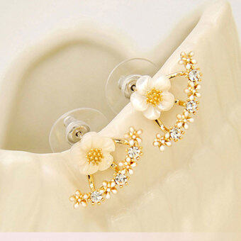 2017 Fashion S925 Daisy flower after hanging earrings(gold/Silver/Rose gold)