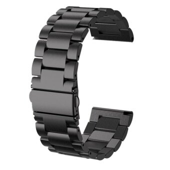 26MM Watch Band 2017 Metal Stainless Steel Watch Band Strap ForGarmin Fenix 3 / HR /Fenix 5X Black - intl