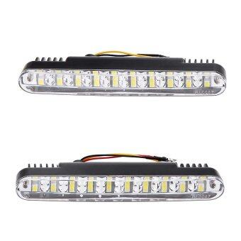 Harga 2pcs Car Daytime Running Light DRL Daylight Lamp with Turn SignalIndicators Lights - intl