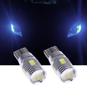2pcs Car Lights Canbus T10 5630 6SMD Decoding W5W Show Wide Lights- intl รูบที่ 2