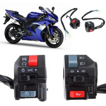 Harga 2pcs Universal 7/8inch Motorcycle Handlebar Horn Turn Signal LightController Switch - intl