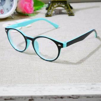 แว่นตาสายตาสั้น -300 ทรงรีเล็ก ขนาดมาตราฐาน8049 แว่นสายตาสั้นมองไกลสีสดใสทูโทน ขาสปริง
