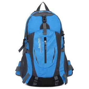 35ลิตรกระเป๋าเป้กลางแจ้งสำหรับเดินป่า และการตั้งแคมป์ สีน้ำเงิน