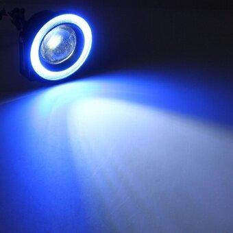 ... 3.5 Inch 30W COB LED Fog Light Projector Car Ice Blue Halo Angle Eyes Ring Bulb ...