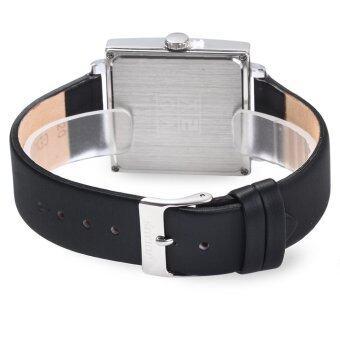 จูเลียสจ๋า-354 สแควร์ควอทซ์หน้าปัดนาฬิกาหนังเพศปกติโกลเด้น (image 2)
