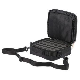 42 Bottles Essential Oils Container Case Travel Microfiber Bag Holder Black - intl