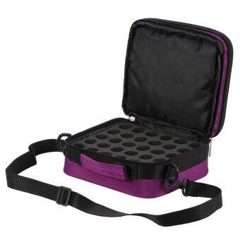 42 Bottles Essential Oils Container Case Travel Microfiber Bag Holder Purple - intl