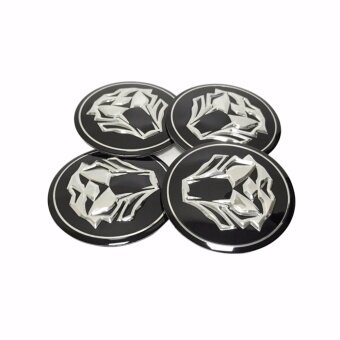 4pcs 56mm Tiger head dust-proof stickers Emblem Badge Sticker Wheel Hub Caps Centre Cover Car Styling Accessories - intl