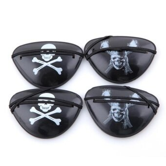4x Pirate Eye Patch Halloween Birthday Party Favor Bag Costume Dress Up Kids Toy - intl