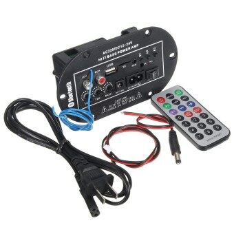 50W Car Bluetooth Subwoofer Hi-Fi Bass Amplifier Board Audio TF USB220V/12V/24V - intl