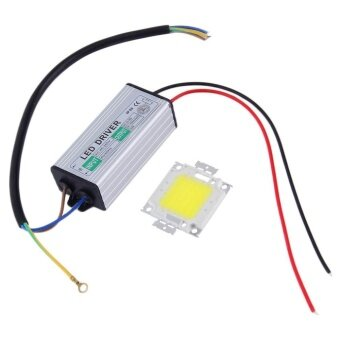 Harga 50W Waterproof High Power COB LED Driver Supply LED SMD Chip Bulbwith Driver - intl