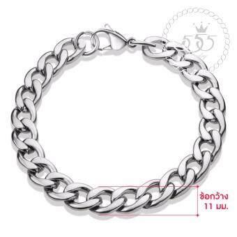 555jewelry 316L Braceletสร้อยข้อมือผู้ชาย รุ่น FSBR11-A (สี Steel) (BR39)