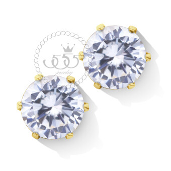 555jewelry 316L Earrings ต่างหูผู้หญิง ประดับ CZ รุ่น MNC-ER427 -B สี ทองCZขาว ต่างหูสแตนเลส ต่างหูสตั๊ด (ER13)