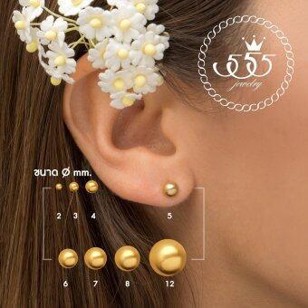 555jewelry ต่างหู รุ่น MNC-ER340-B (Yellow Gold) (ER70)