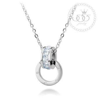 555jewelry สร้อยคอพร้อมจี้ ดีไซน์สวย รุ่น MNC-N229-A(Silver)