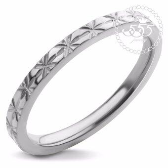 555jewelry แหวนดีไซน์สวยงาม รุ่น MNC-R408-A (Steel)