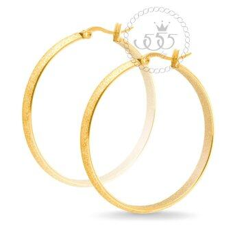 555jewelry Stainless Steel 316L ต่างหู รุ่น MNC-ER399-B (Yellow Gold)