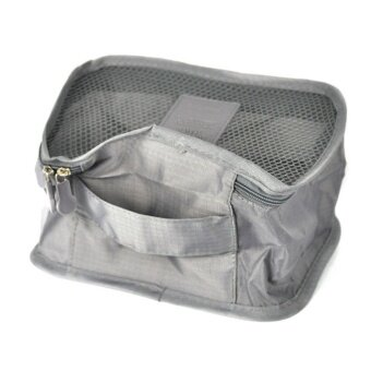 6Pcs/set Waterproof Travel Storage Bags Clothes Packing Cube Luggage Organizer Pouch (Grey) high-caliber - intl