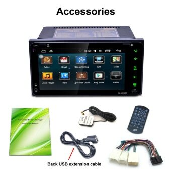 7 2Din Stereo Car Android MP5 Player Bluetooth Touch Radio AM/FM/RDS/GPS/USB/SD - intl