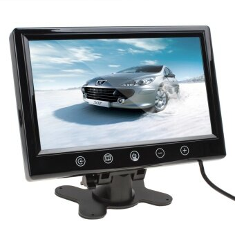 9 inch Remote Control TFT LCD Color Screen Car Rear View MonitorWith 2 Video Input - intl